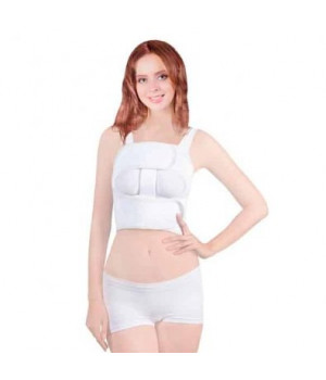 Бандаж компрессионный на грудь послеоперационный, жесткий (женский)