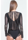 BODYSUIT WITH LONG SLEEVES LE JOURNAL INTIME FOLIES BERGERE (BLACK WITH LUREX) Le Journal FB-BD-SL