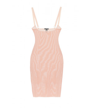 """SLIPDRESS LE JOURNAL INTIME """"INVISIBLE"""" DRESS LONG (FLESH COLOR)"""