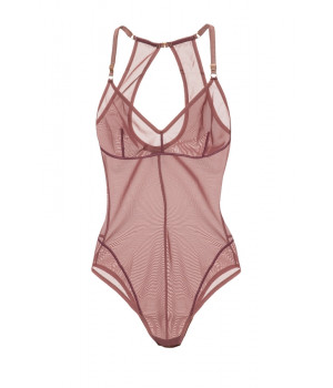 "BODYSUIT LE JOURNAL INTIME ""MONROE"" AIR (BERRY)"