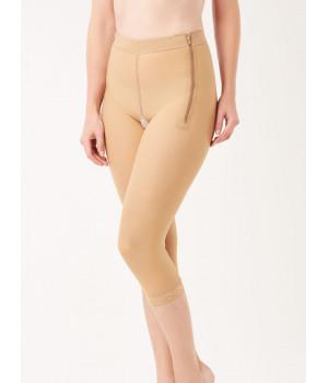 Компрессионные штаны до середины голени с двумя молниями
