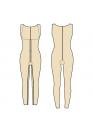 Комбинезон для сильной корекции ног, ягодиц, бедер и живота до щиколотки BSL-103