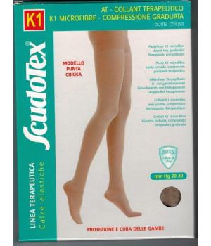 445 Колготки компрессионные Скудотекс  К1 (20-30 mmHg) с микрофиброй, закрытый носок (мысок)