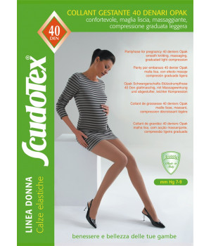 466_cap Колготки компрессионные Скудотекс , антиварикозные (7-9 mmHg) 40 den беж(cappuc) для беременных