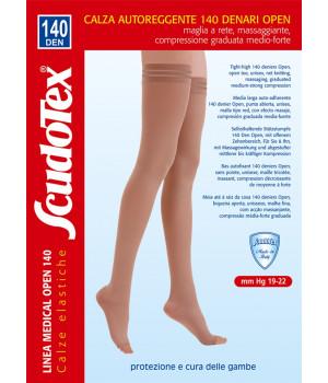 589 Чулки компрессионные 1 класс компрессии  Скудотекс  (19-22mmHg)140 den открытый носок (мысок), женские или мужские (унисекс для мужчин)