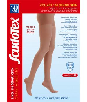 593 Колготки компрессионные Скудотекс , антиварикозные (19-22mmHg) 140 den открытый носок (мысок)