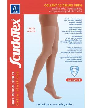 822 Колготки компрессионные Скудотекс , антиварикозные (15-18 mmHg) 70 den открытый носок (мысок)